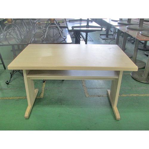 【中古】和風両立脚テーブル 白木 幅1180×奥行750×高さ700 【送料別途見積】【業務用】