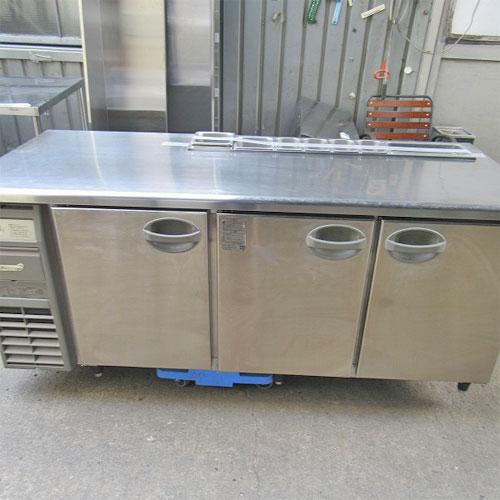 【中古】冷蔵サンドイッチコールドテーブル 福島工業(フクシマ) YRW-180RM 幅1800×奥行750×高さ800 【送料別途見積】【業務用】【厨房機器】
