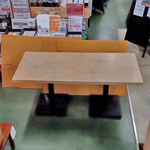 【中古】テーブル 白木 幅1600×奥行700×高さ730 【送料別途見積】【業務用】