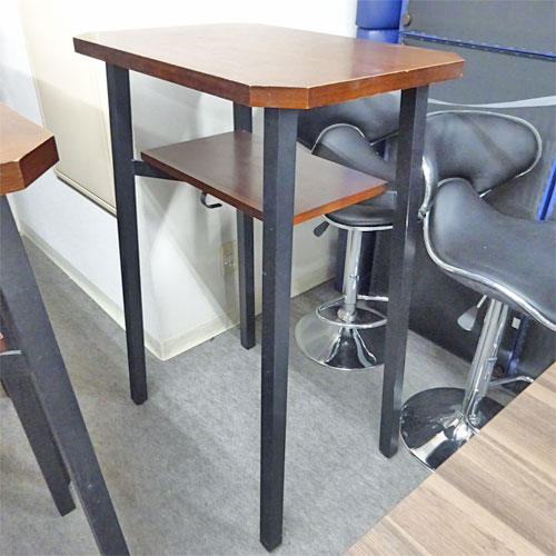【中古】4本脚ハイテーブル 幅700×奥行500×高さ1050 【送料別途見積】【業務用】