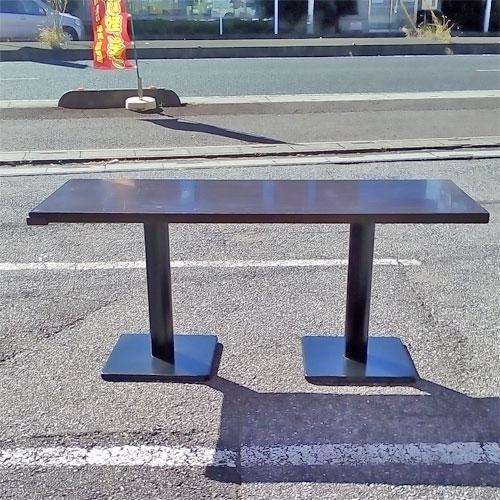 【中古】和風テーブル こげ茶 幅1650×奥行650×高さ710 【送料別途見積】【業務用】