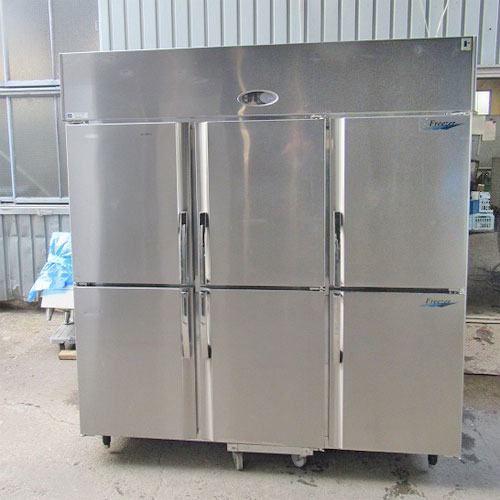【中古】6ドア縦型冷凍冷蔵庫 フジマック FR1880F2J 幅1800×奥行800×高さ1940 【送料別途見積】【業務用】