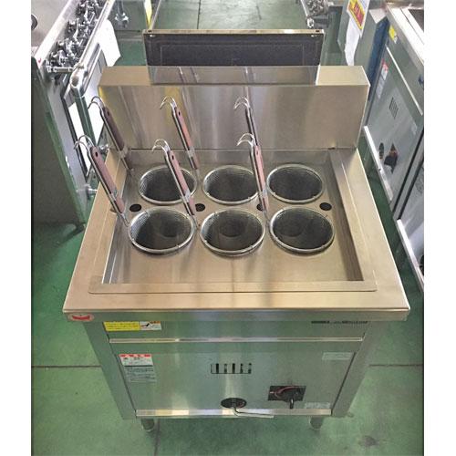 【中古】ゆで麺機 マルゼン MRK-066B 幅600×奥行600×高さ800 LPG(プロパンガス) 【送料別途見積】【業務用】