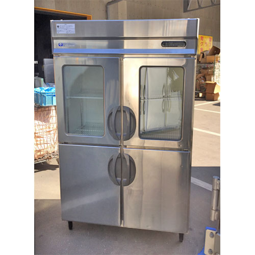 【中古】縦型冷蔵庫 福島工業(フクシマ) URN-40RE12009 幅1200×奥行650×高さ1950 【送料別途見積】【業務用】【厨房機器】