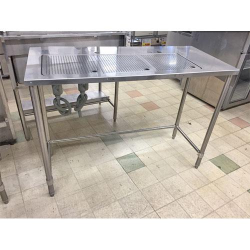 【中古】ドリンクテーブル 三方枠 幅1330×奥行600×高さ950 【送料無料】【業務用】