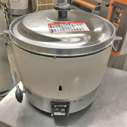【中古】ガス炊飯器 3升 リンナイ RR-30SI 幅450×奥行421×高さ408 LPG(プロパンガス) 【送料別途見積】【業務用】