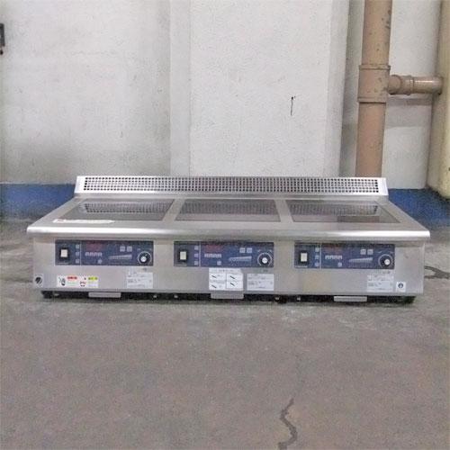 【中古】IH調理器 (3口) ニチワ電機 MIR-1555TA-N5 幅1200×奥行600×高さ330 三相200V 【送料別途見積】【業務用】