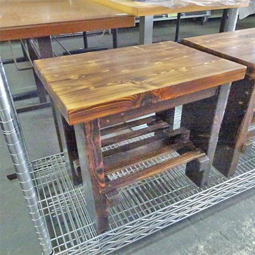 【中古】手作り木製ベンチ小 幅500×奥行350×高さ445 【送料別途見積】【業務用】
