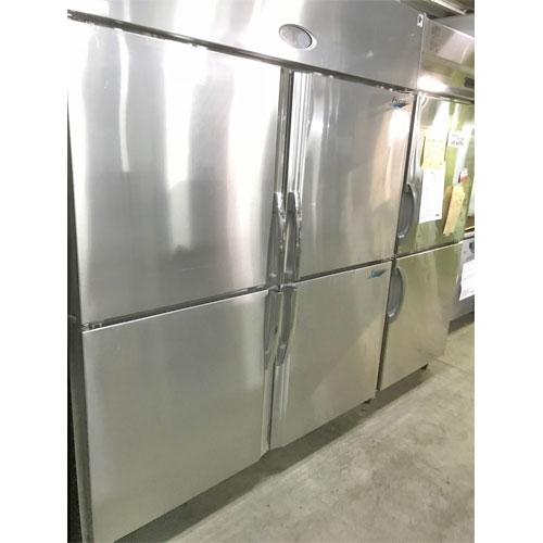 【中古】縦型冷凍冷蔵庫 フジマック FR1580F2J 幅1500×奥行800×高さ1950 【送料別途見積】【業務用】【厨房機器】