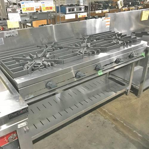 【中古】ガステーブル タニコー TSGT-1532 幅1500×奥行600×高さ800 都市ガス 【送料別途見積】【業務用】