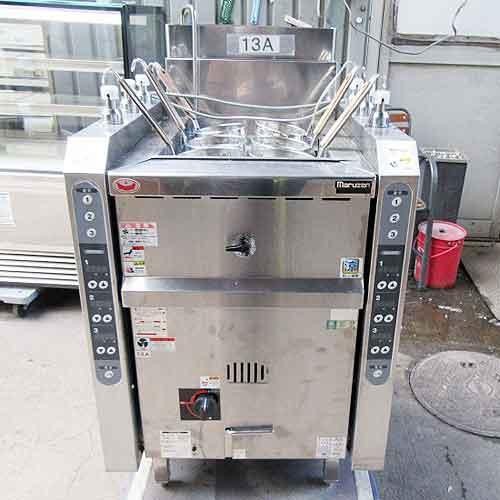 【中古】ゆで麺機 マルゼン MRL-06C 幅600×奥行700×高さ910 都市ガス 【送料別途見積】【業務用】
