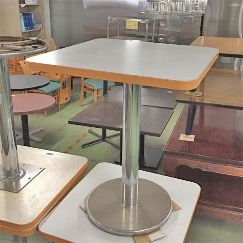 【中古】洋風テーブル 白 幅600×奥行600×高さ720 【送料無料】【業務用】