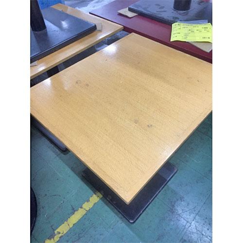 【中古】白木木縁洋風テーブル 幅600×奥行700×高さ700 【送料無料】【業務用】