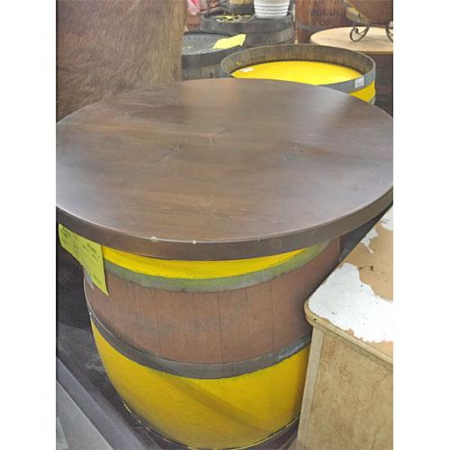 【中古】木製 樽 幅700×奥行700×高さ800 【送料無料】【業務用】