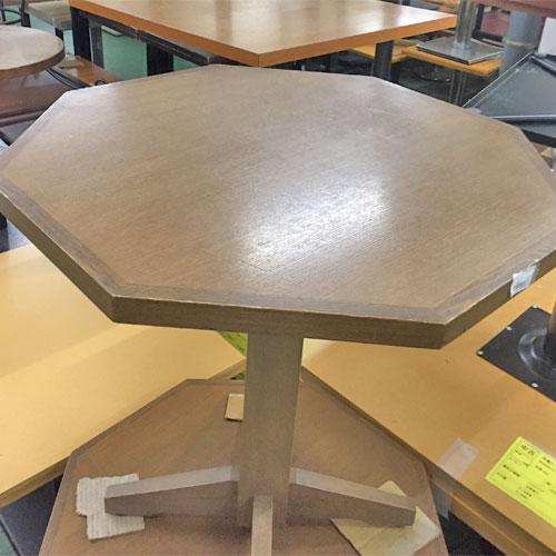 【中古】六角テーブル 幅700×奥行700×高さ740 【送料無料】【業務用】