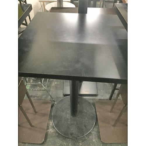 【中古】黒天板ハイテーブル 幅600×奥行600×高さ1000 【送料無料】【業務用】
