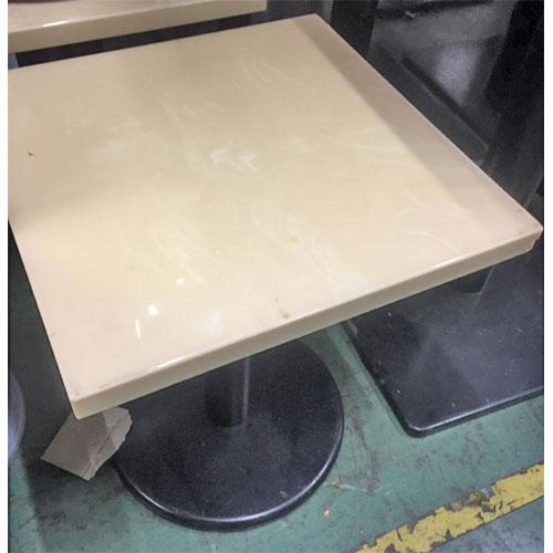 【中古】洋風テーブル 白 幅450×奥行450×高さ550 【送料無料】【業務用】