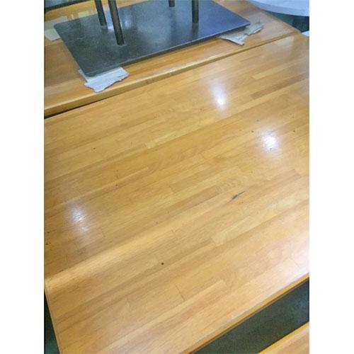 【中古】NA集成材四本脚テーブル 幅1050×奥行700×高さ700 【送料無料】【業務用】