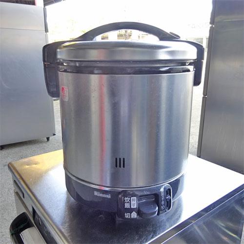 【中古】ガス炊飯器 リンナイ RR-100GS-C 幅309×奥行283×高さ349 都市ガス 【送料別途見積】【業務用】