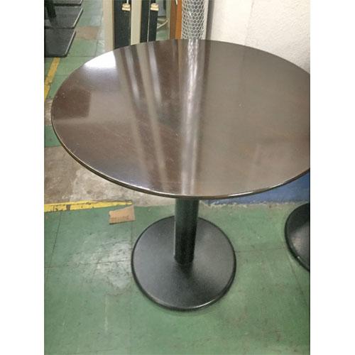 【中古】丸茶洋風テーブル 幅600×奥行600×高さ720 【送料無料】【業務用】