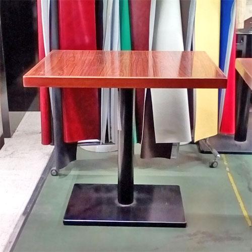 【中古】洋風テーブル 茶メラ 幅750×奥行600×高さ700 【送料無料】【業務用】