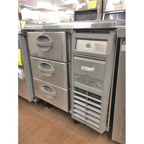 【中古】冷蔵ドロワーコールドテーブル 福島工業(フクシマ) YDC-080RM-R 幅755×奥行600×高さ800 【送料無料】【業務用】