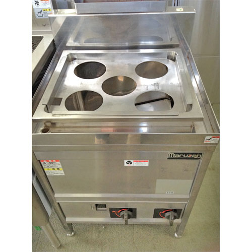 【中古】ガスゆで麺機 マルゼン MGU-066PG 幅600×奥行600×高さ800 都市ガス 【送料無料】【業務用】
