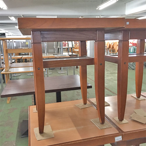 【中古】和風テーブル2種 幅600×奥行700×高さ725 【送料無料】【業務用】