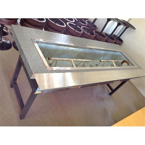 【中古】お好み焼きテーブル 幅1830×奥行730×高さ710 都市ガス 【送料無料】【業務用】