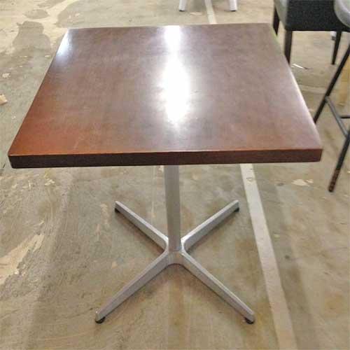 【中古】2人掛けテーブル 幅600×奥行600×高さ700 【送料無料】【業務用】