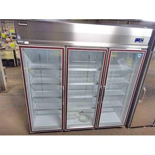 【中古】冷蔵リーチインショーケース 大和冷機 613KEP-EC 幅1800×奥行800×高さ1900 三相200V 【送料別途見積】【業務用】【厨房機器】