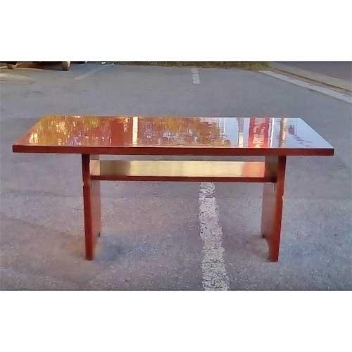 【中古】和風テーブル 茶メラ 幅1600×奥行750×高さ720 【送料別途見積】【業務用】