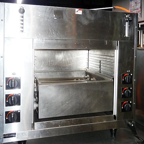 【中古】両面式焼物器 マルゼン MGKW-084 幅845×奥行465×高さ850 LPG(プロパンガス) 【送料別途見積】【業務用】