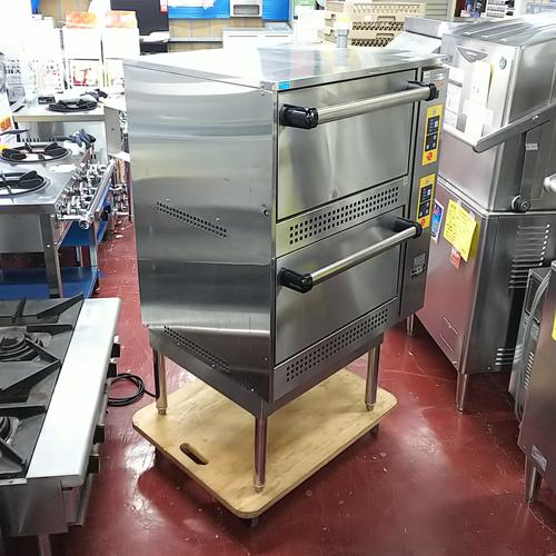 【中古】2段式ガス立体炊飯器 コメットカトウ CRA-100N 幅748×奥行707×高さ1200 都市ガス 【送料無料】【業務用】