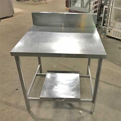 【中古】作業台 炊飯台付き 幅780×奥行750×高さ800 【送料無料】【業務用】