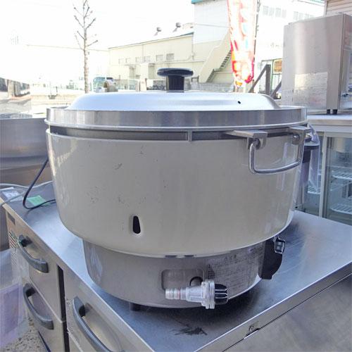 【中古】ガス炊飯器 リンナイ RR-40S1 幅530×奥行500×高さ450 都市ガス 【送料別途見積】【業務用】