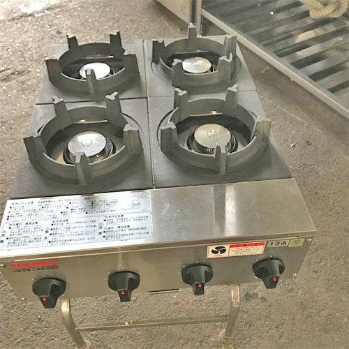 【中古】ビビンバコンロ 山岡金属 SPK-574-04 幅220×奥行600×高さ206 都市ガス 【送料別途見積】【業務用】