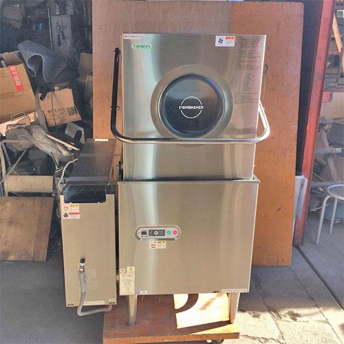 【中古】食器洗浄機 タニコー TDWD-605 幅650×奥行635×高さ1435 三相200V 50Hz専用 都市ガス 【送料別途見積】【業務用】