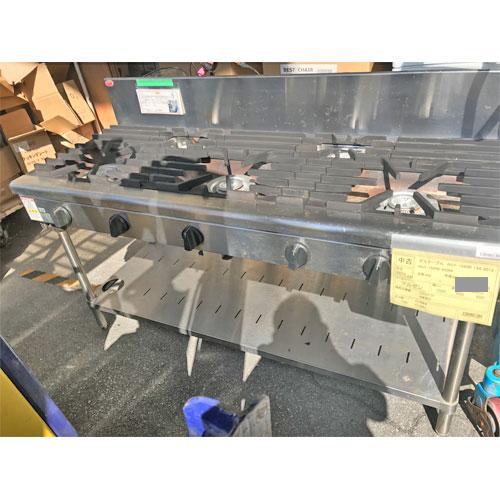 【中古】ガステーブル マルゼン RGT-1565B13A 幅1500×奥行600×高さ800 都市ガス 【送料別途見積】【業務用】