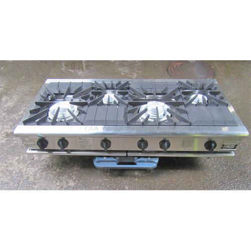 【中古】ガステーブル(4口) キタザワ KXY-1260CT 幅1200×奥行600×高さ270 都市ガス 【送料別途見積】【業務用】
