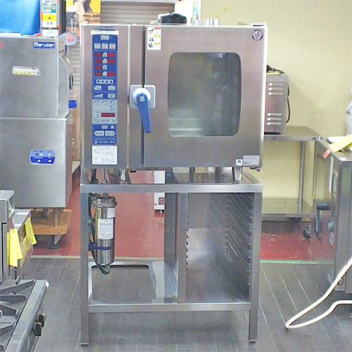 【中古】スチームコンベクションオーブン ニチワ電機 SCOS-61RH-L 幅900×奥行830×高さ1600 三相200V 【送料無料】【業務用】【厨房機器】