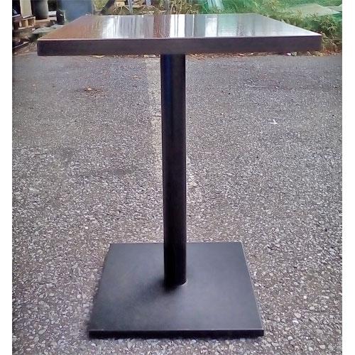 【中古】二人用テーブル BR 幅600×奥行500×高さ700 【送料無料】【業務用】