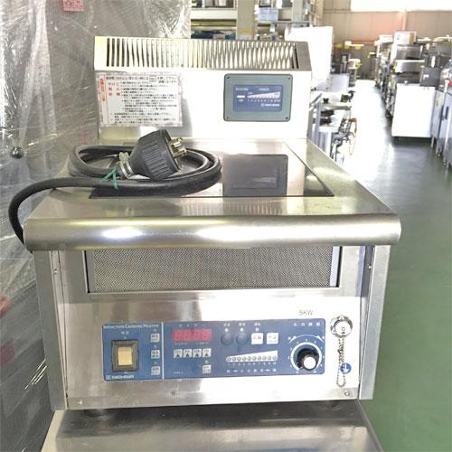 【中古】卓上IH調理器BG ニチワ電機 MIR-5T5 幅450×奥行600×高さ300 三相200V 【送料無料】【業務用】