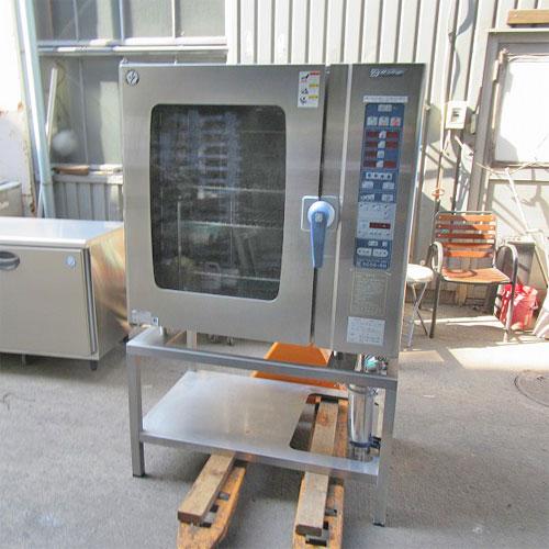 【中古】スチームコンベクションオーブン(架台付き) ニチワ電機 SCOS-1010RH-R 幅1035×奥行655×高さ1655 三相200V 【送料別途見積】【業務用】