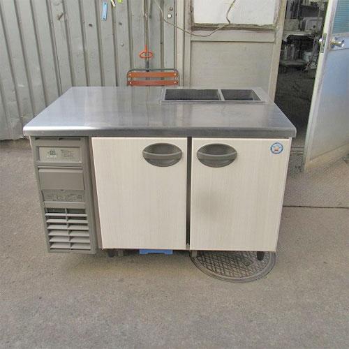 【中古】冷蔵サンドイッチコールドテーブル フクシマガリレイ(福島工業) YRW-120RM2-F 幅1200×奥行750×高さ800 【送料無料】【業務用】