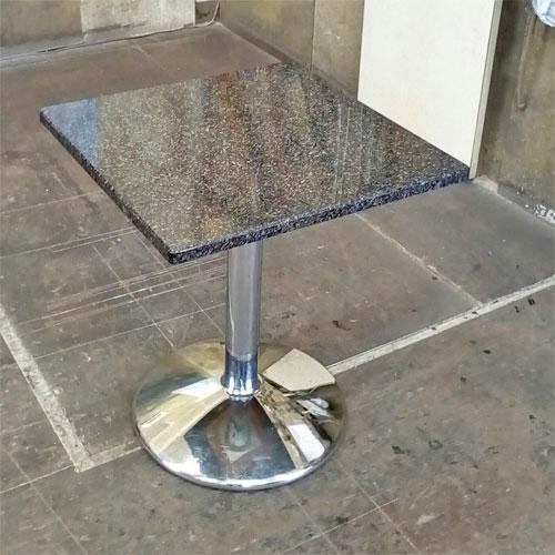 【中古】大理石テーブル 幅500×奥行500×高さ570 【送料無料】【業務用】