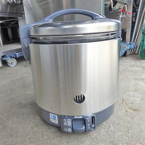 【中古】ガス炊飯器 リンナイ RR-S100GS 幅310×奥行340×高さ349 都市ガス 【送料別途見積】【業務用】
