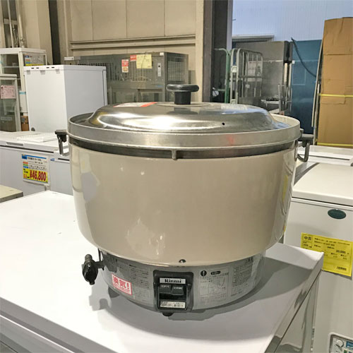 【中古】ガス炊飯器 5升 リンナイ RR-50S1 幅525×奥行481×高さ527 都市ガス 【送料別途見積】【業務用】【厨房機器】