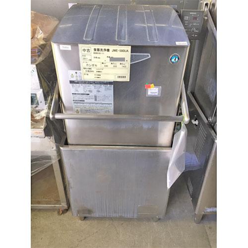 【中古】食器洗浄機 ホシザキ JWE-580UA 幅640×奥行655×高さ1432 三相200V 50Hz専用 【送料別途見積】【業務用】