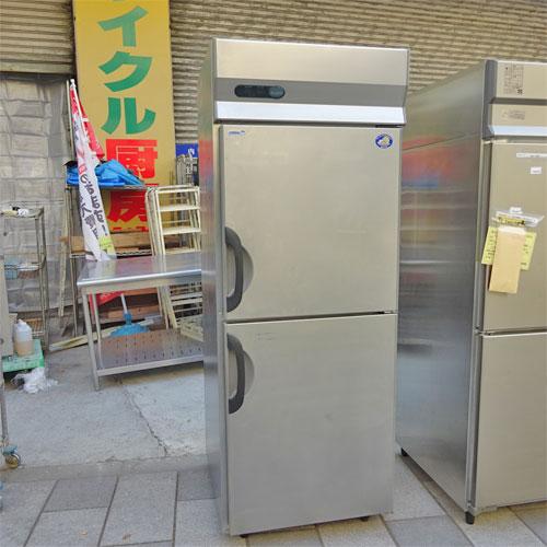 【中古】縦型冷凍冷蔵庫 三洋電機 SRR-781C 幅745×奥行800×高さ1980 【送料別途見積】【業務用】
